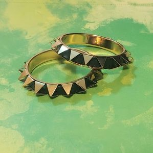2 spiked bangles